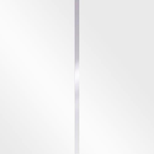 White high gloss w. silver trim